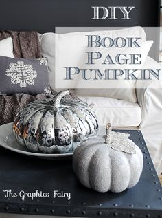 Make Book Page Pumpkins