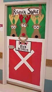 Cute holiday classroom door idea for Rebel teachers.