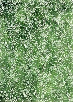 floral pattern in green and white