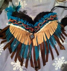 Native/ Indian Rave Bra (negotiable price) on Etsy, $75.00