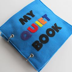 Felt Quiet Book - 6 pages of educational and interative fun
