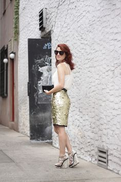 statement pencil skirt... #jumbosequins
