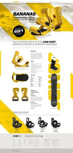 Khione Snowboard #Website by Dennis Ventrello, via #Behance #Webdesign #Web #Design #Website #Webdesign #Inspiration
