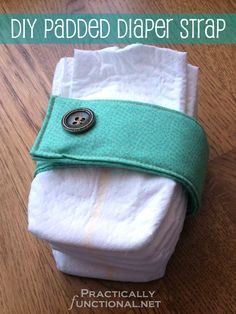Need a baby shower gift? Make an adorable padded diaper strap in just 15 minutes!