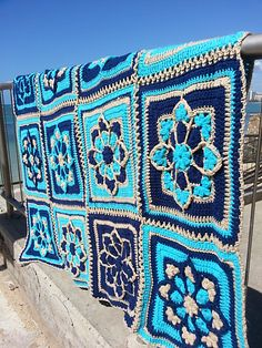 Ravelry: JulieAnny's Stained Glass Afghan Square pattern by Julie Yeager $1.99