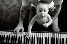 music, arm tattoos, the piano, future babies, children, baby daddy, guitar, daddy daughter, father
