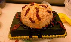 Fear factor brain n worms cake....
