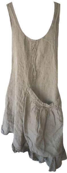 Magnolia Pearl: Flax linen Lavender Harvest Apron Dress