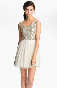 As U Wish Sequin Tulle Cutout Dress | Nordstrom #luckymag #festivefrocks
