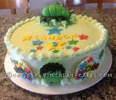 The Incredible Edible Hulk Cake!... a cool homemade birthday cake idea.