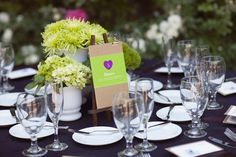 table numbers with messages