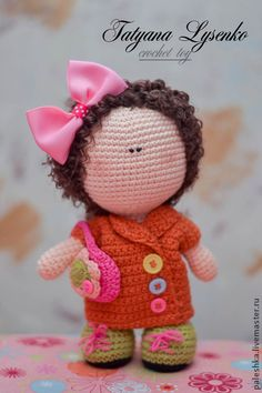 Peoples handmade. Fair Masters - handmade doll with a handbag. Handmade.
