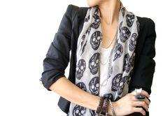 Skull scarf....loved it bought it!! Can't wait to wear it