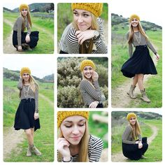 Posh Poses | Solo | Collection of Shots | Stripes and Beanies | Outdoors | Senior Girls