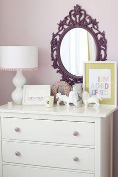 Annessa's big girl room mirror, little girls, idea, dresser, nurseri, baby girls, little girl rooms, kid room, bedroom