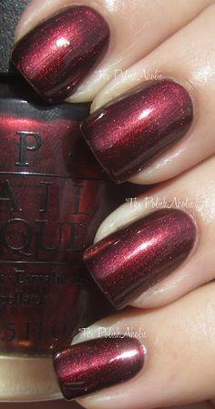 opi fall, holiday nails, christmas colors, nail polish, germani collect, opi germanicur, fall 2012, red nails, 2012 germani