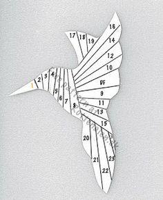 Iris Fold Humming Bird