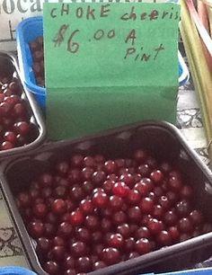 Choke cherries from Gary Bergman - rare.  Grab'em!
