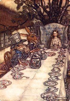 Arthur Rackham (England 1867-1939) -The Tea Party