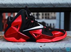 lebron black and red | Look at Nike LeBron XI (11) Black Red Heat Away | NIKE LEBRON - LeBron ...