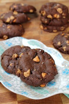 Salted Chocolate Peanut Butter Chip Cookies