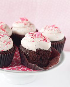 Chocolate and Raspberry Cupcakes - great for Valentine's Day