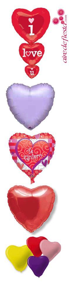 En AIredefiesta.com tenemos una gran variedad de globos en forma de corazón para que personalices tu cena de San Valentin....¡O para que se los regales a la persona que más quieres!  #globos #corazon #SanValentin