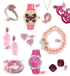 pretty in pink...great jewelry in all price ranges!