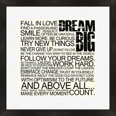 wall art, dream big, word of wisdom, dreambig, daily quotes