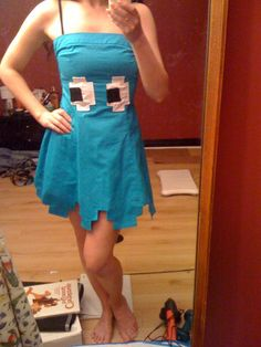 pacman ghost monster girly costume