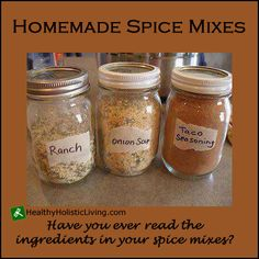 Do you know what is in your store bought spice mix? Make your own homemade spice mix