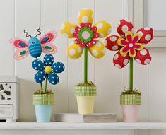 Craft Painting - Styrofoam Flowers and Butterfly