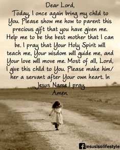 A Parent's Prayer~ Amen