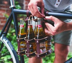 Fyxation Leather 6-Pack Bicycle Caddy