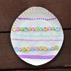 Easter Craft - Paper Plate Easter Egg