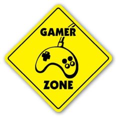 Amazon.com : GAMER ZONE Sign novelty gift xbox playstation ps : Yard Signs : Patio, Lawn & Garden