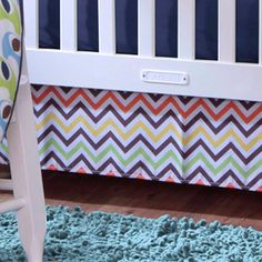 Bananafish Studio Zig Zag Crib Skirt