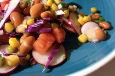 Ensalada con maiz, frijoles y mas #salads