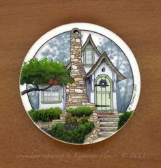 Hansel and Gretel Cottage scrimshaw by Katherine Plumer, one of my favorite artists.