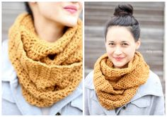 easy ouble crochet infinity scarf – FREE PATTERN - Delia Creates