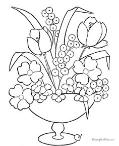 May Flowers Coloring Pages   ... Vault Printable Activities Coloring Pages Just for Moms Kids Games