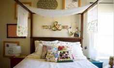 Decorative Pillows for Bed with Various Ideas: Colorful Cushions White Bed Sheet Vintage Wallpaper Crafty Decorations