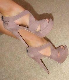 cute pale purple heels