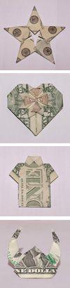 money origami folding instructions