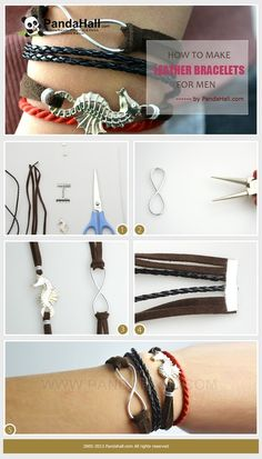 Jewelry Making Tutorial-How to Make Leather Bracelets for Men with Simple Steps | PandaHall Beads Jewelry Blog
