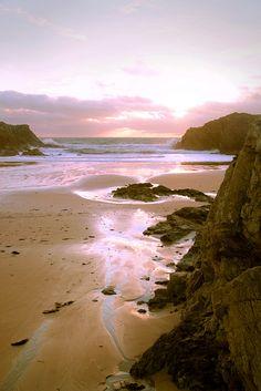 Porthdafarch, Holyhead, Ynys Mon, Gwynedd. A pretty cove on the Isle of Anglesey, North Wales