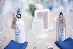 42 Wedding Favors Your Guests Will Actually Want -- these bottles look darn close to our Ultra Light Aluminum Bottles (http://qualitylogoproducts.com/u/k4mf7w/)