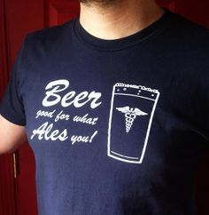 Men's Beer shirt size medium beer good for by blackbirdandpeacock, $12.00