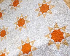 vintage quilts, sun pattern, sunburst quilt, star quilts, vintage patterns, starburst quilt, quilt shop, french star, sun star
