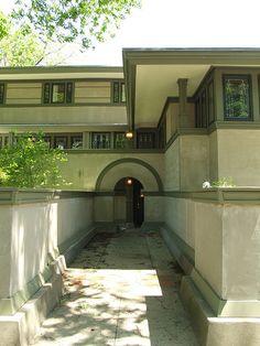 Frank Thomas House. Oak Park, Illinois, 1901. Praire Style. Frank Lloyd Wright.